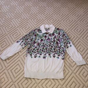 Barely Worn Ted Baker Karn Thistle Floral Sweater